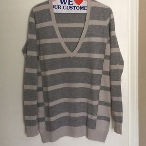 WALLACE by Madewell stripes wool blend sweater | M